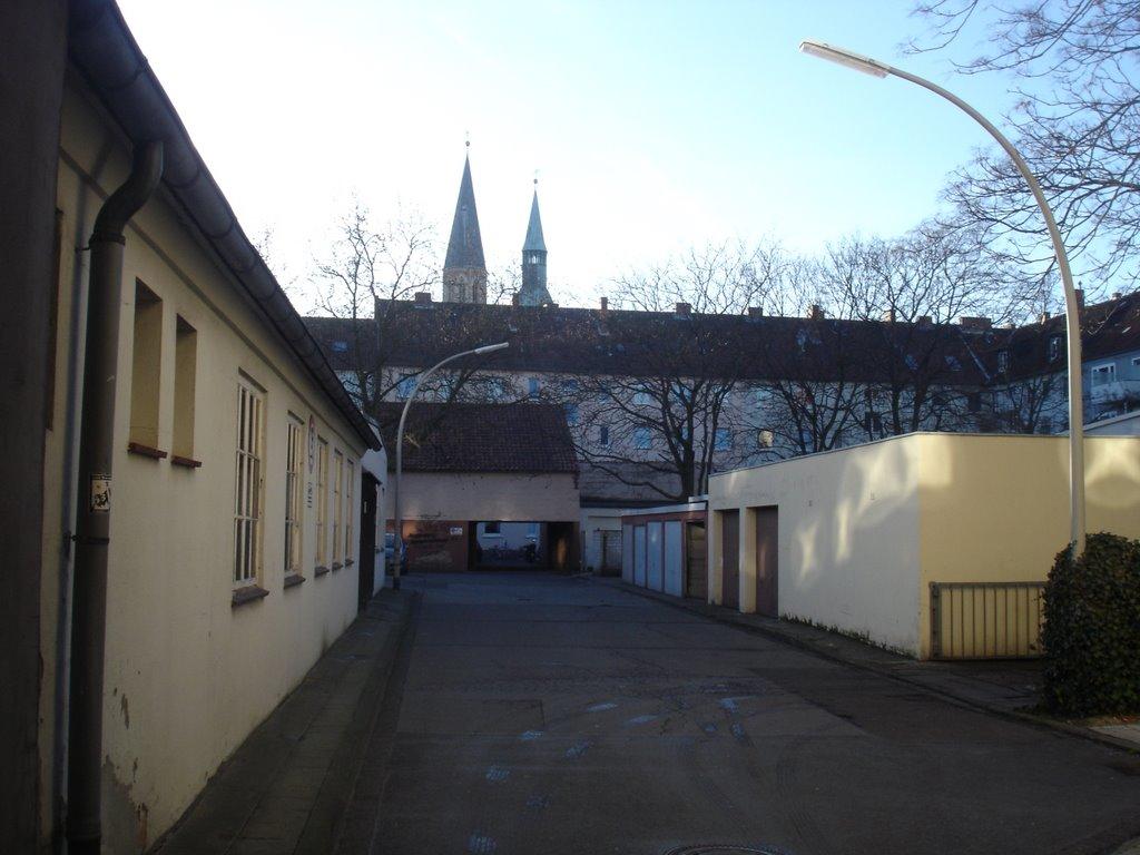 """Braunschweig, """"mein"""" alter Innenhof, Брауншвейг"""