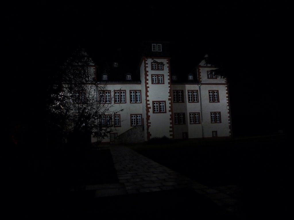 Germany, Salzgitter, Salder, Castle by night, Salzgitter