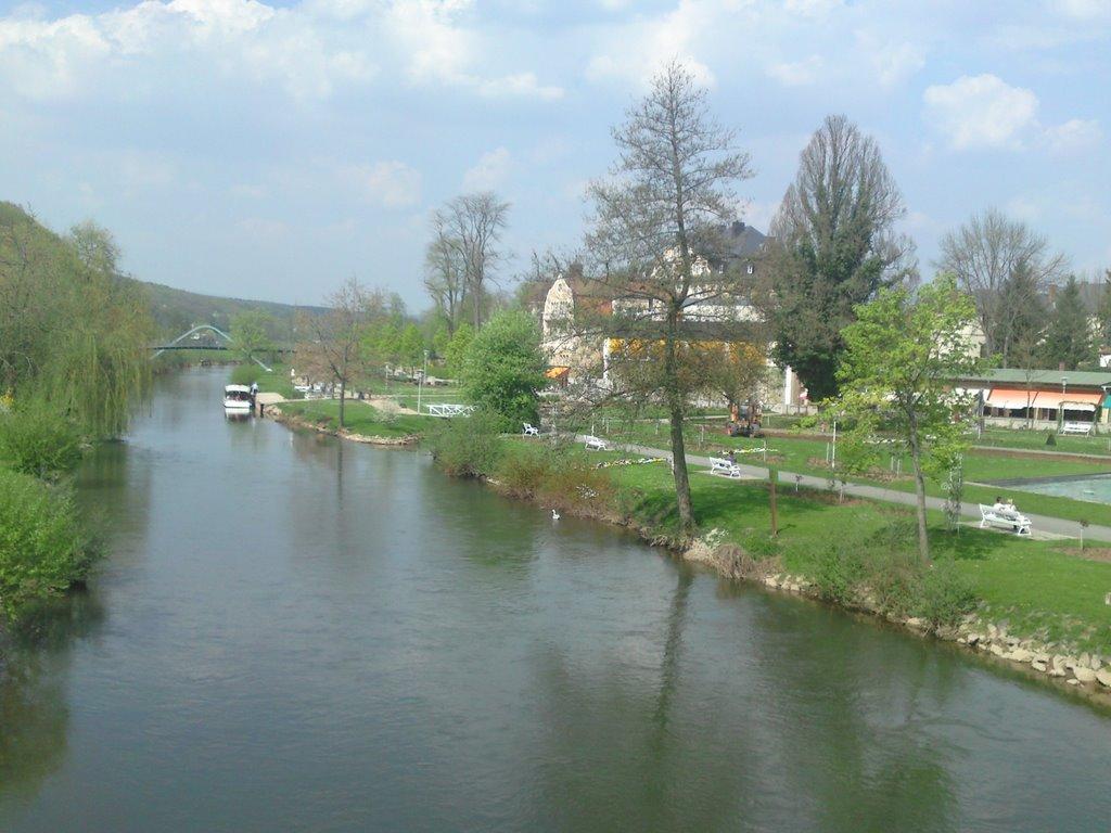 Blick von Brücke 1, Бад Киссинген