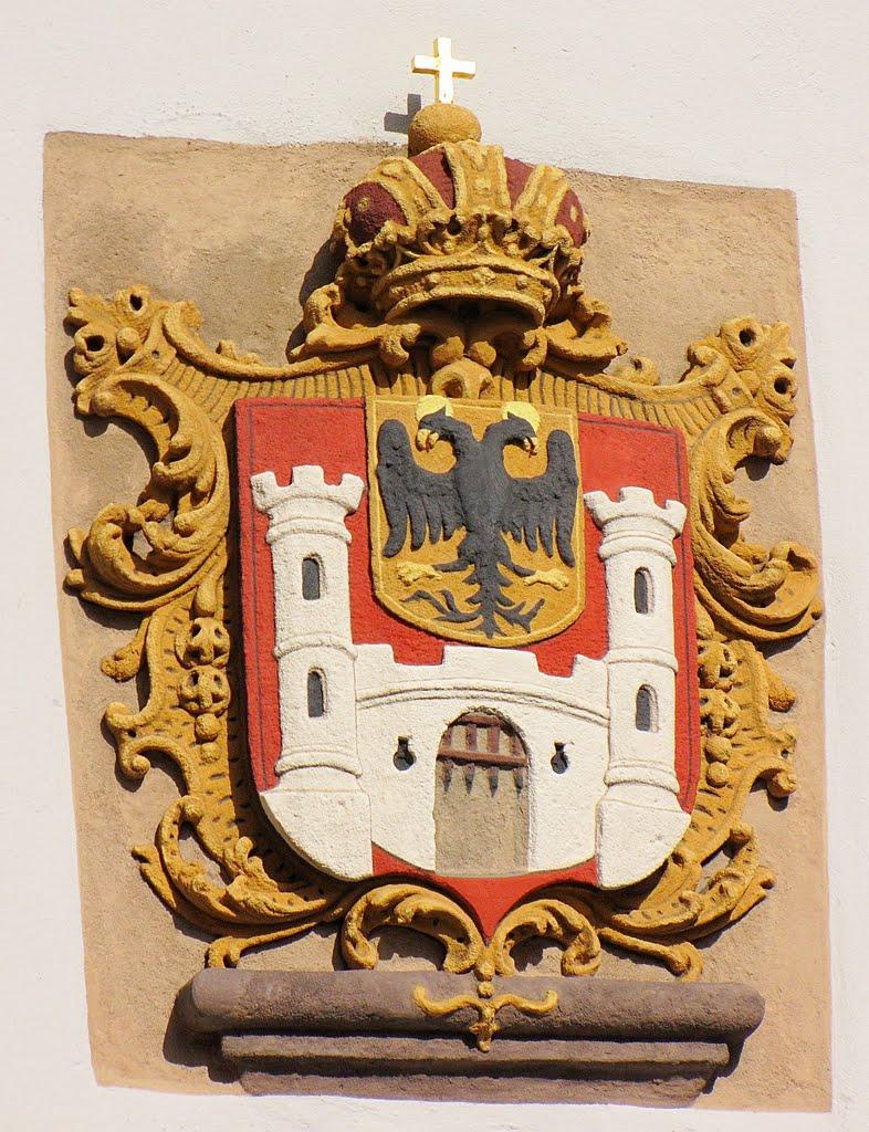 Weißenburger Stadtwappen an der Spitalkirche, Вайсенбург