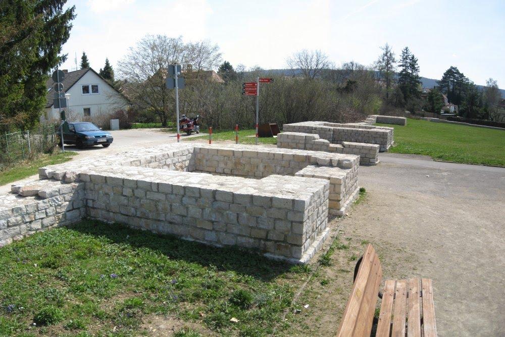 Römisches Kastell Biriciana - Osttor (Porta principalis sinistra,  04/2009), Вайсенбург