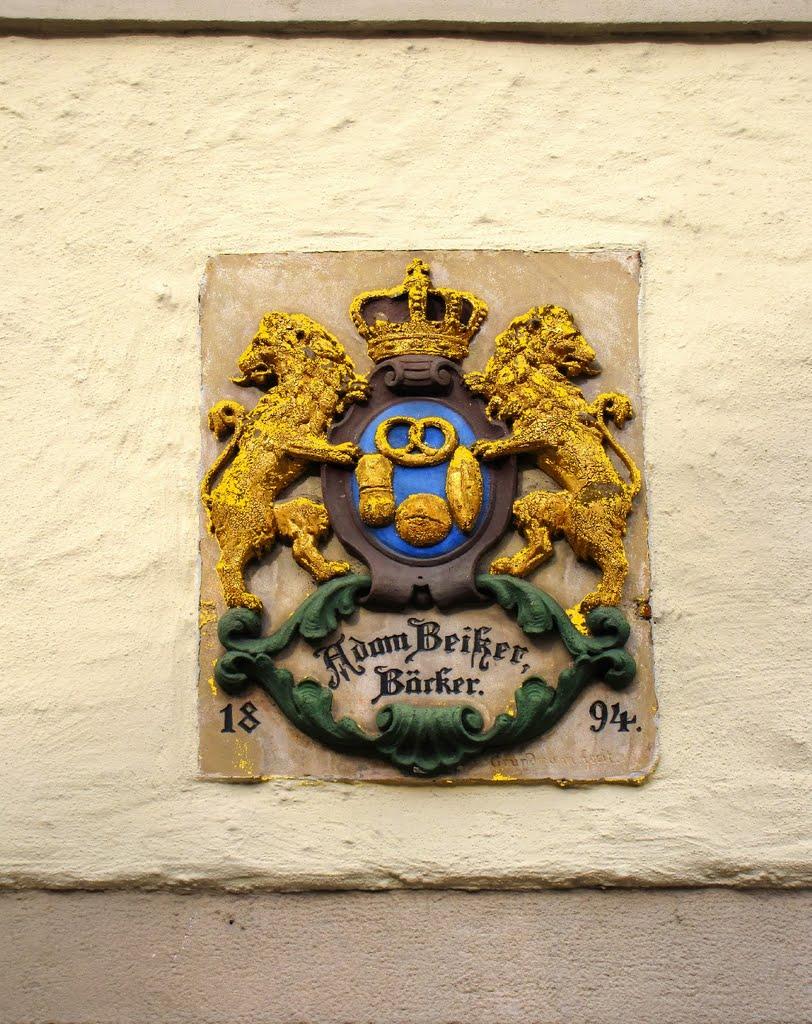 Weißenburg in Bayern - Wappen des Bäckers Beiker, Вайсенбург