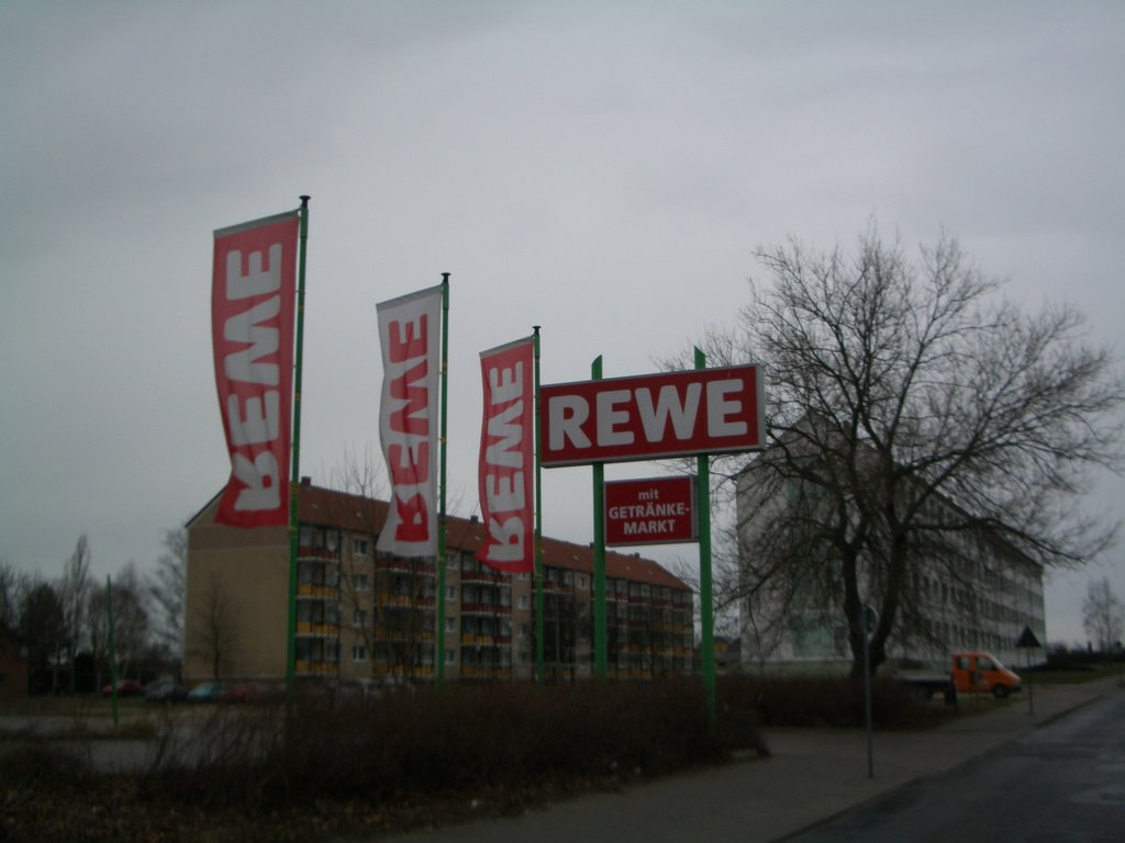 REWE Parkplatzschild, Гарделеген