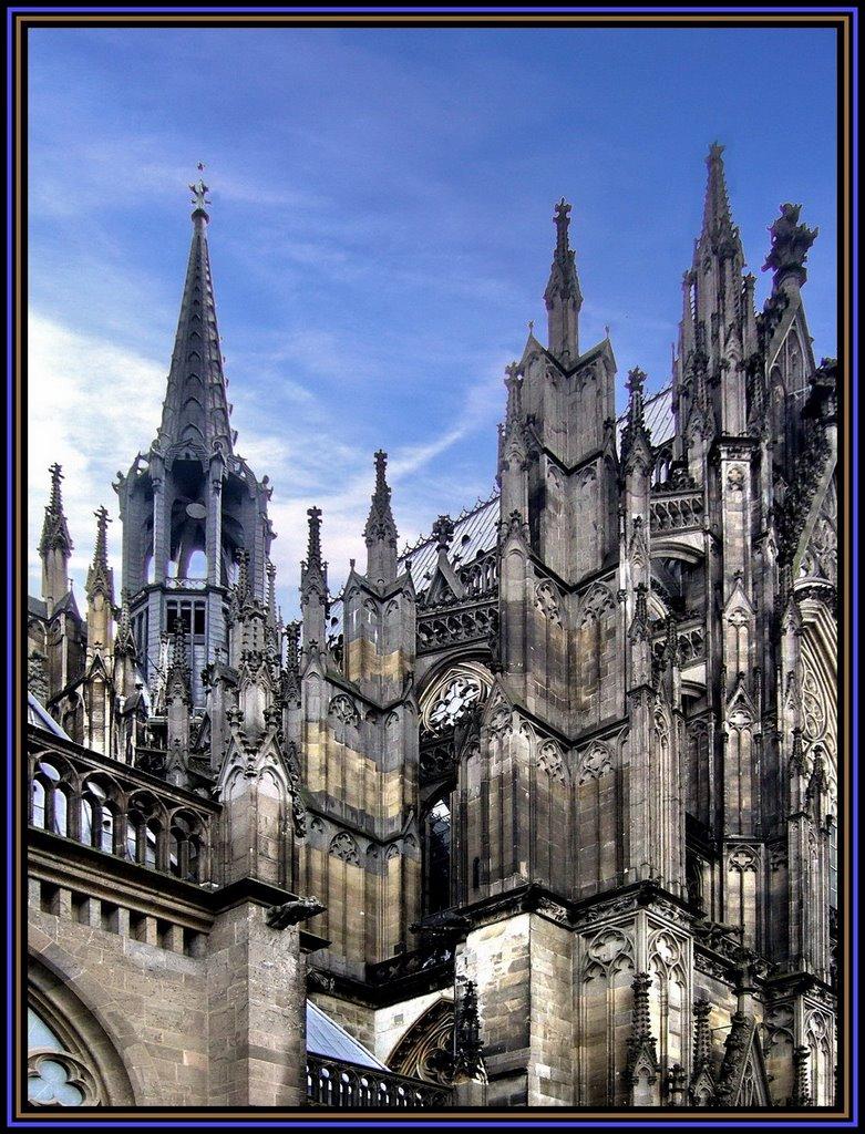 Der Kölner Dom, das Wahrzeichen der Stadt., Кельн
