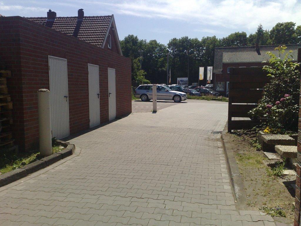Blick auf die Meppenerstr, hinterm ContiMarkt, Линген