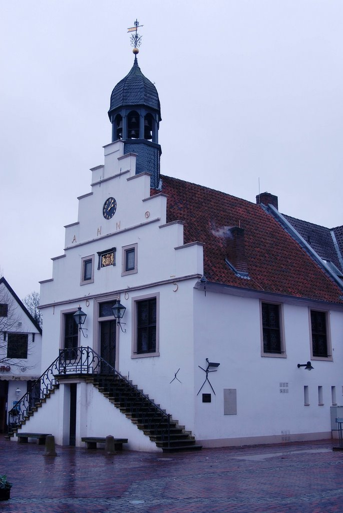 The historic Rathaus (town hall) on the Marktplatz, build 1555., Линген