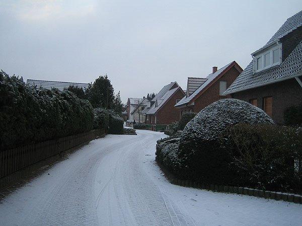 Snow falling in Lingen, Линген