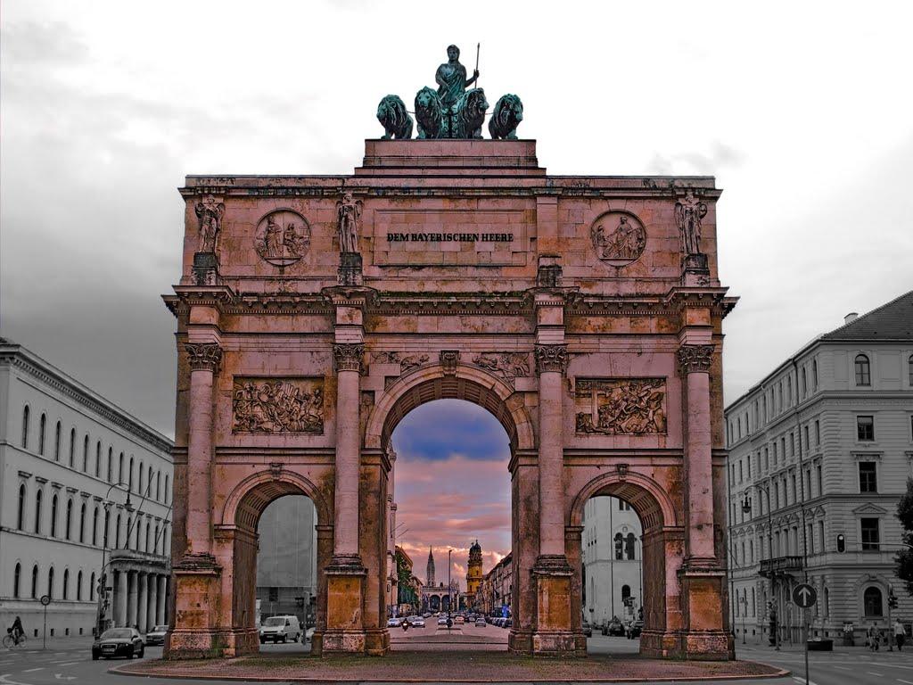 München, das  Siegestor., Мюнхен