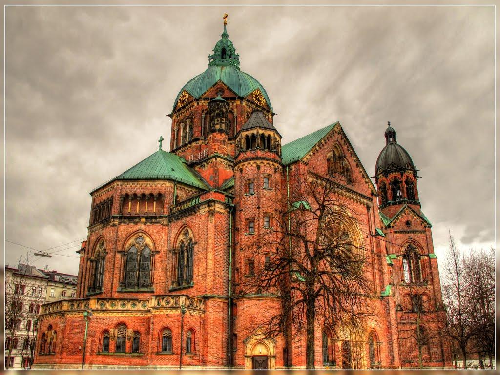 St. Lukas Kirche, München, built 1893-1896, Мюнхен