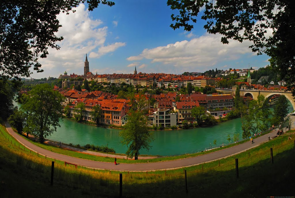 SWI Bern City & [Aare] from Grosser Muristalden Panorama by KWOT {Subtitle: The Smile City by petinaki} ♥♥♥♥♥♥♥♥♥♥, Берн