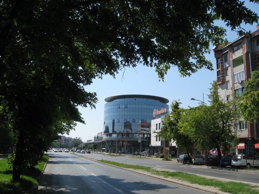 Pogled na zgradu Sajma, Нови-Сад
