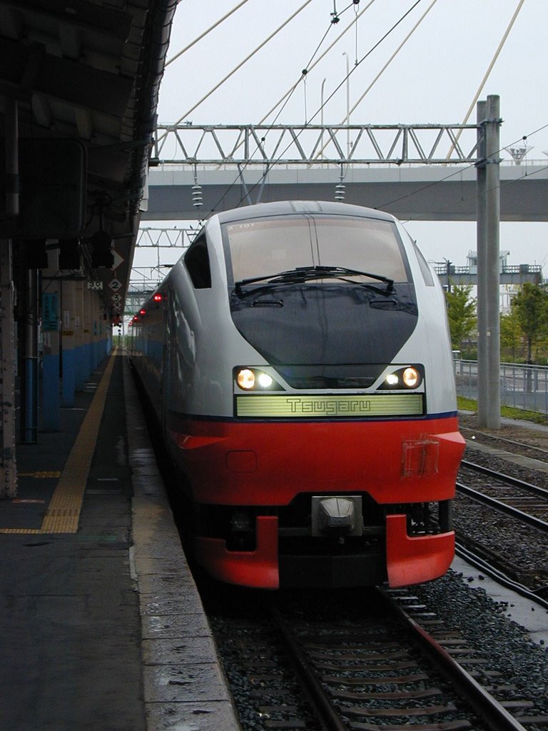 """Tugaru"" in The Aomori station of rain, Гошогавара"