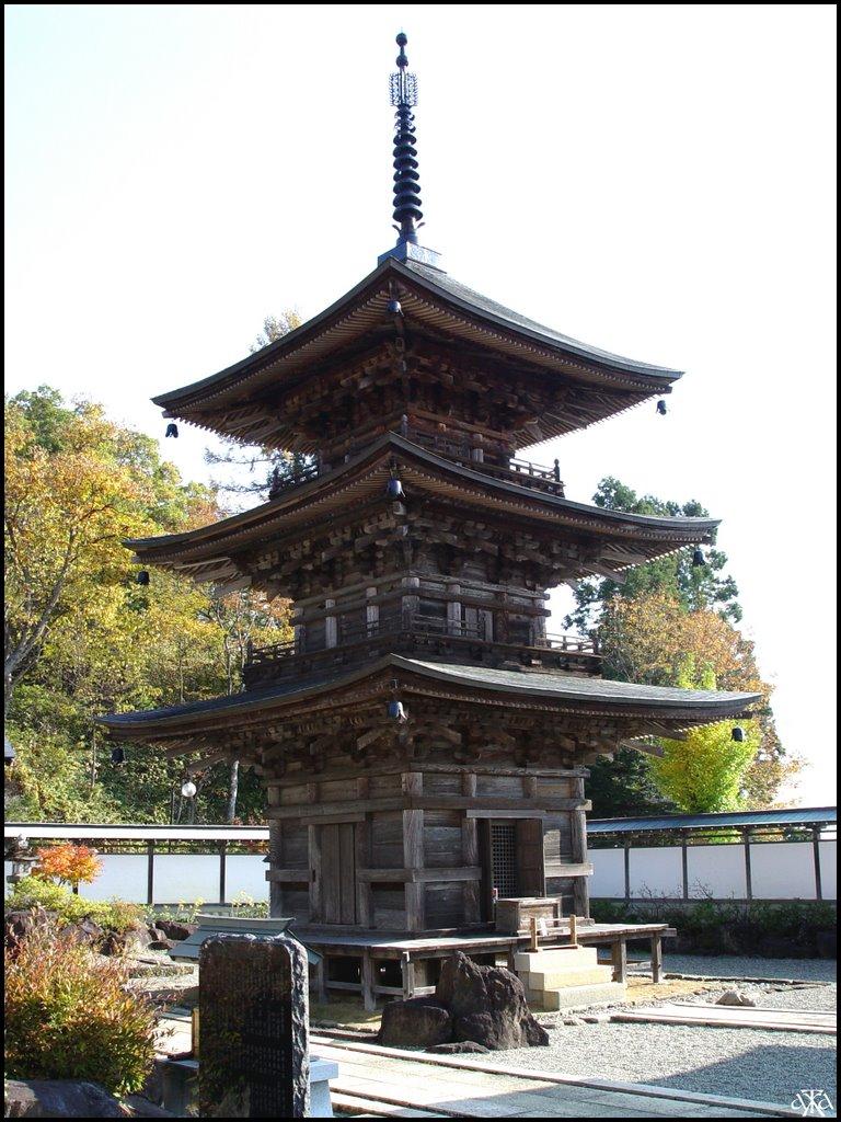 Pagoda of Kozanji Temple, Мииако
