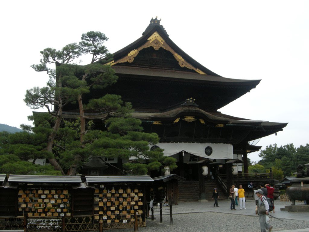 National treasure Zenko-ji temple Hondo(=The Main Hall),Nagano city,Nagano pref 国宝善光寺本堂(长野市) 国宝善光寺本堂(長野市), Сува