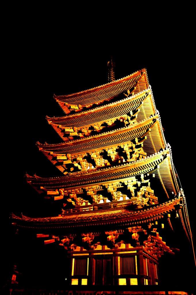 興福寺 五重塔, Сакураи