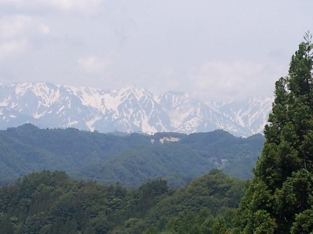 白馬岳と大雪渓 信州小川村, Акаши