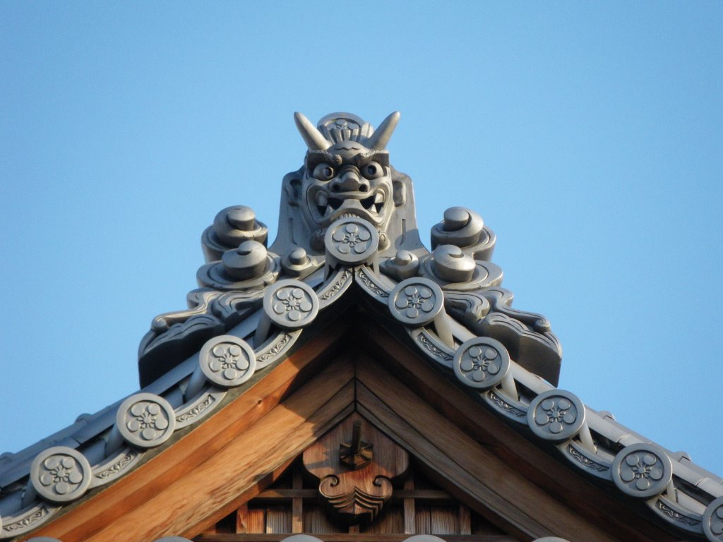 Nagasu Temman Jinja Shrine 長洲天満神社 鬼瓦, Амагасаки