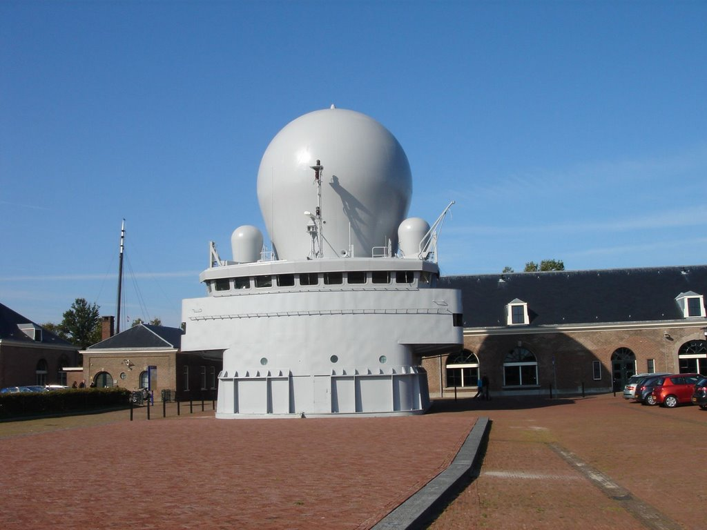 Den Helder - Willemsoord - Marinemuseum - View West on Command-Bridge of Frigate Hr.Ms.Ruyter (F806), Ден-Хельдер