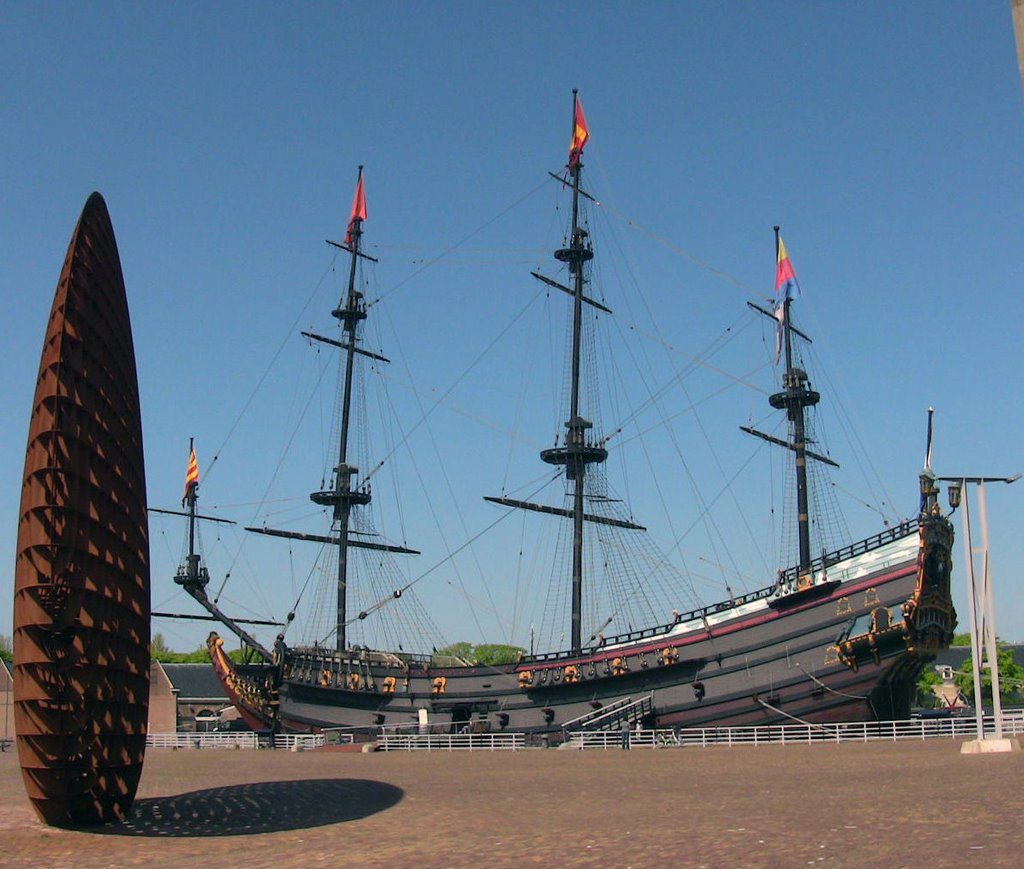 Old boat Prins Willem from the year 1651, Ден-Хельдер