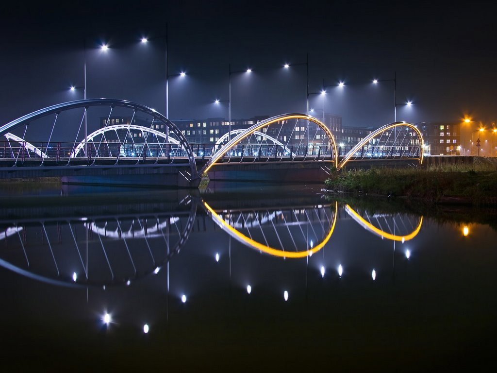 Bridge with yellow arcs (2), Suytkade, Helmond, Хелмонд