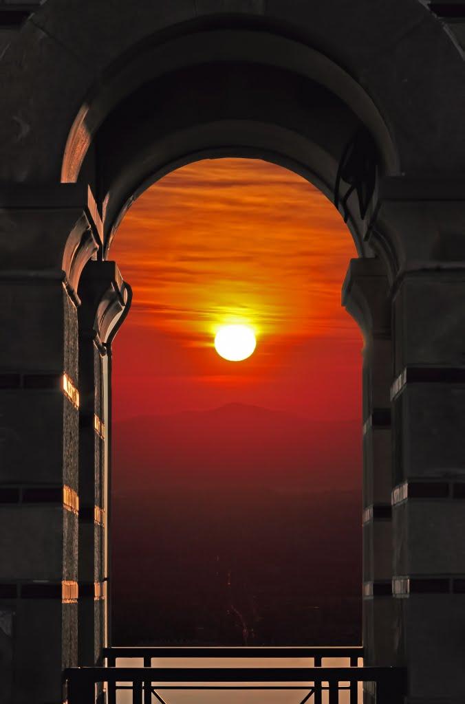 Sunset in winter, Афины