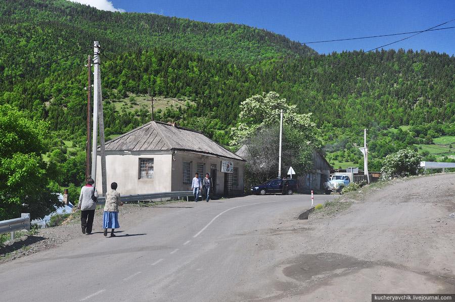 Near Adygeni bus station, Адигени