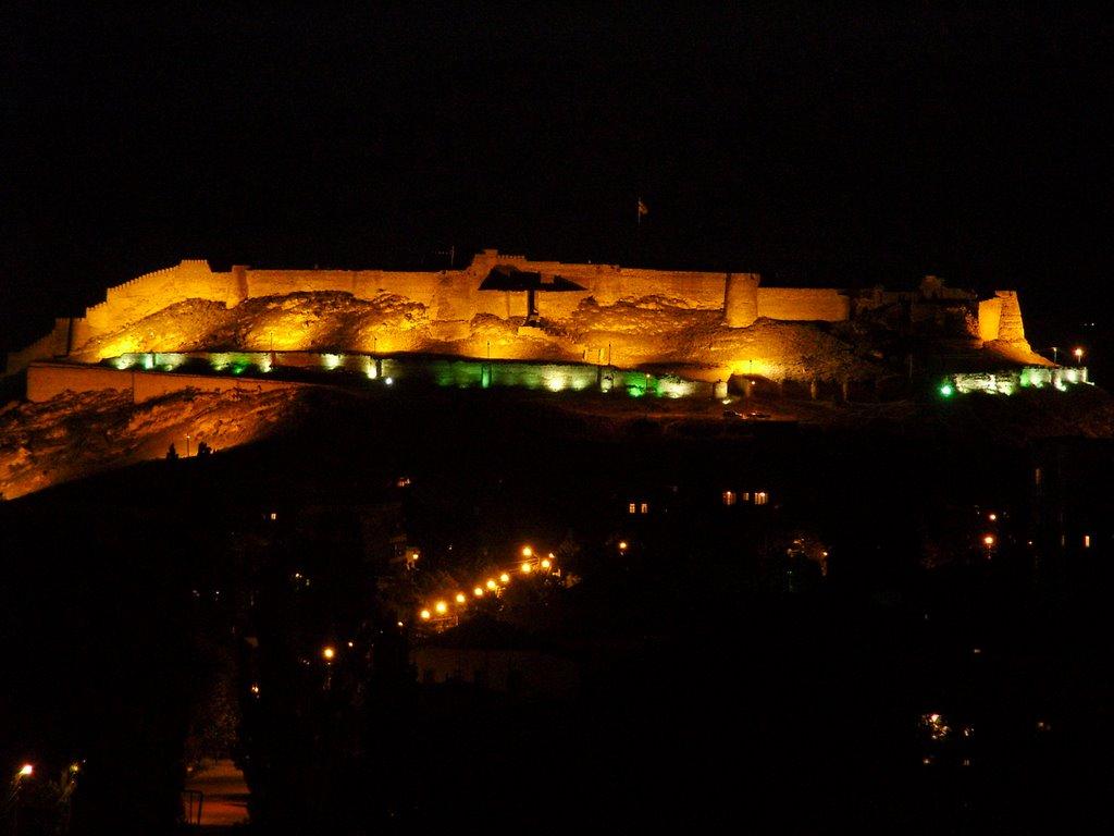 გორის ციხესიმაგრე ღამით/ Gori castle by night Гори замок в ночь, Гори