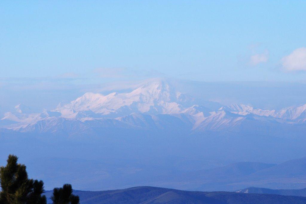 mt.kazbegi view from kojori, Коджори