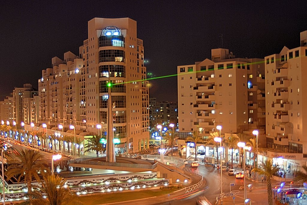 Ночной Ашдод....   Ashdod by night., Ашдод