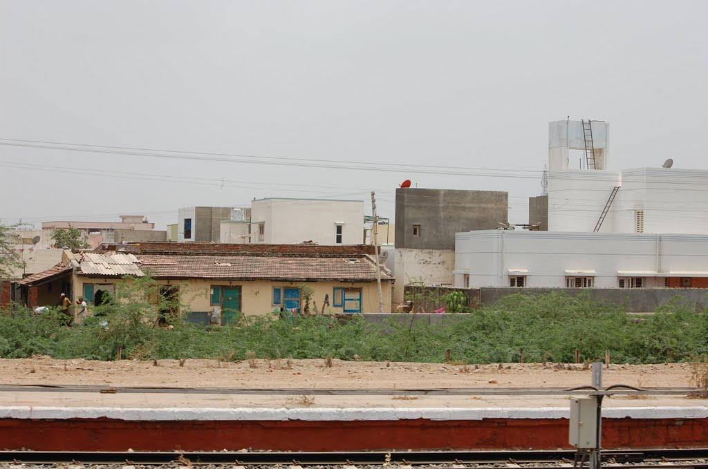 DPAK MALHOTRA, Surendernagar City view from Railway Stn, Ahmedabad-Surendernagar Track, गुजरात भारत Gujarat Bharat ગુજરાત ભારત દેશનું, Сурендранагар