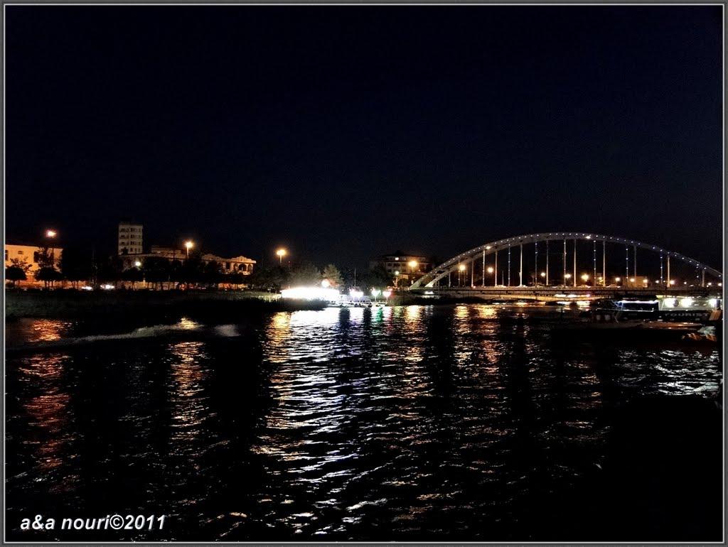 Babolsar second bridge at night, Бабол