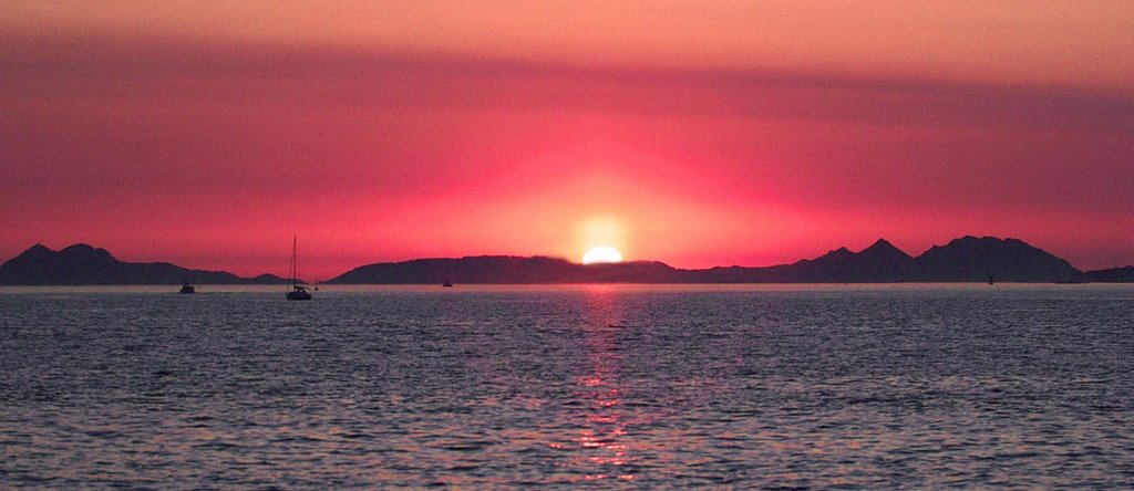 Ría de Vigo, Sunset, Виго