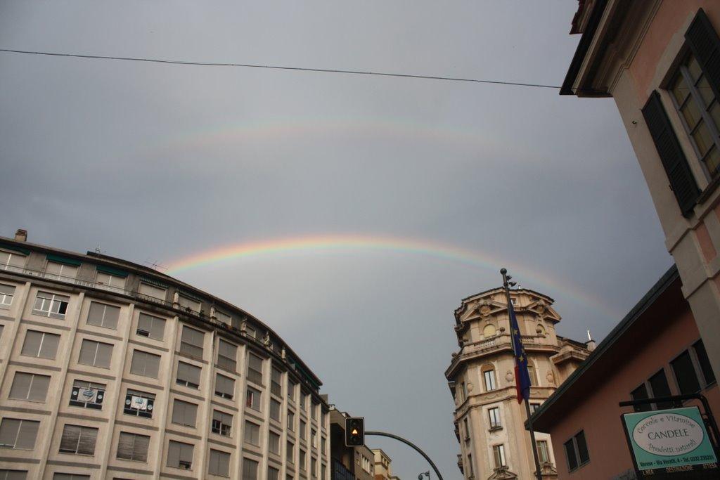 "Doppio arcobaleno sopra la Notte Bianca 2009 ""Varese x lAbruzzo"", Варезе"