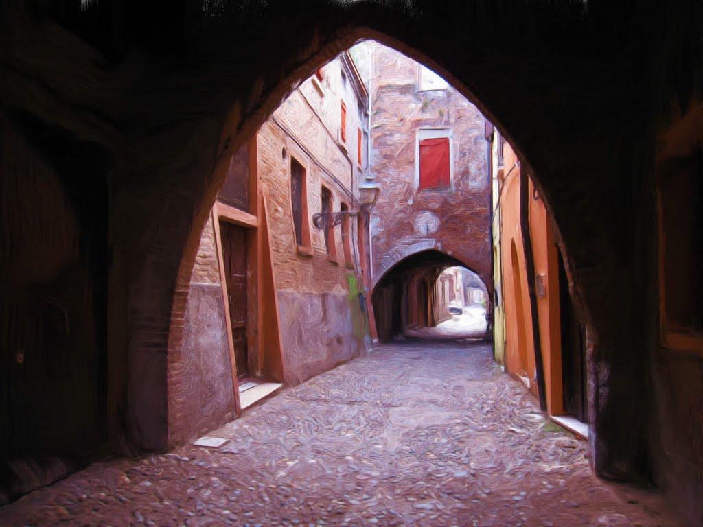 I colori antichi di via delle Volte - The ancient colors of  Via delle Volte, Феррара