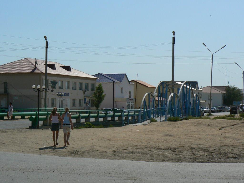 Kulsary. Bridges., Кульсары