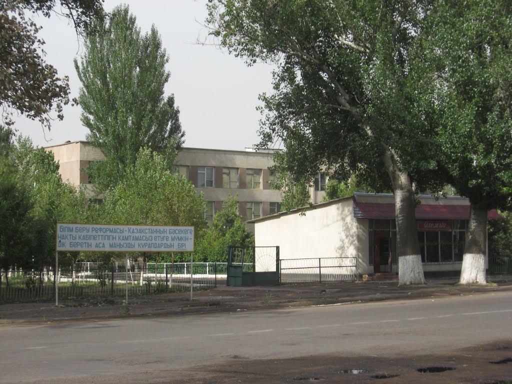 Вид на школу СШ17, Мерке