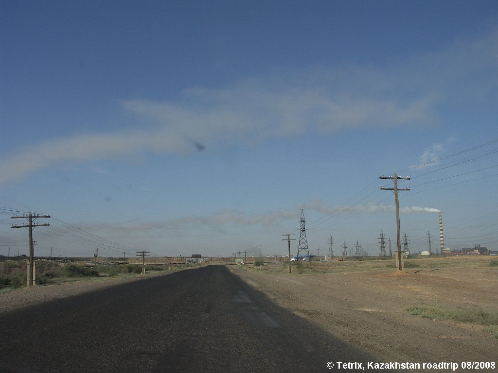 Road A344 Zhezkazgan, Восточно-Коунрадский