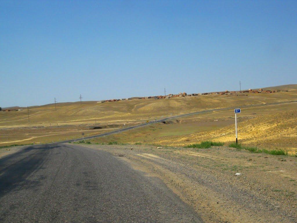 Road Zhezkazgan - Ulytau near Zhezdi, Восточно-Коунрадский