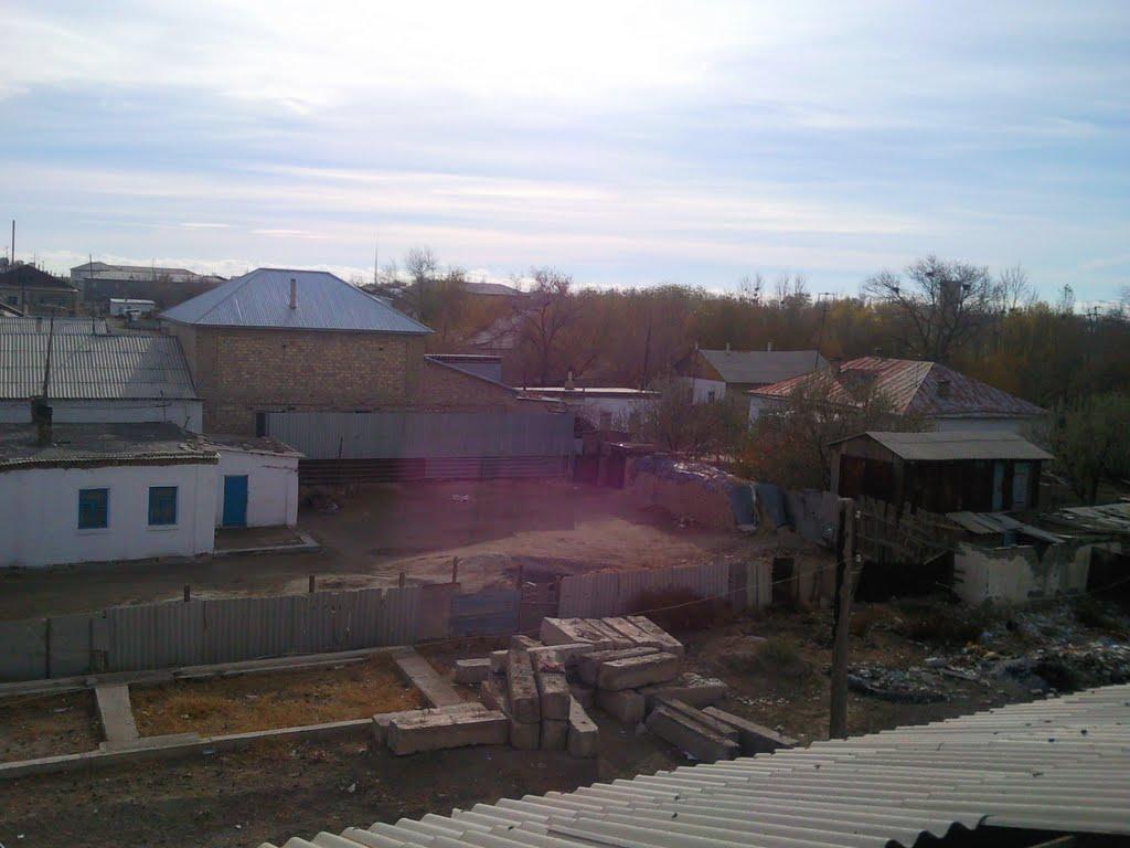вид с крыши, Джусалы