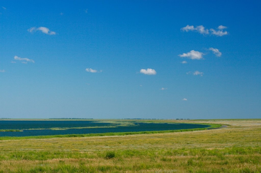 Lake in steppe, Володарское