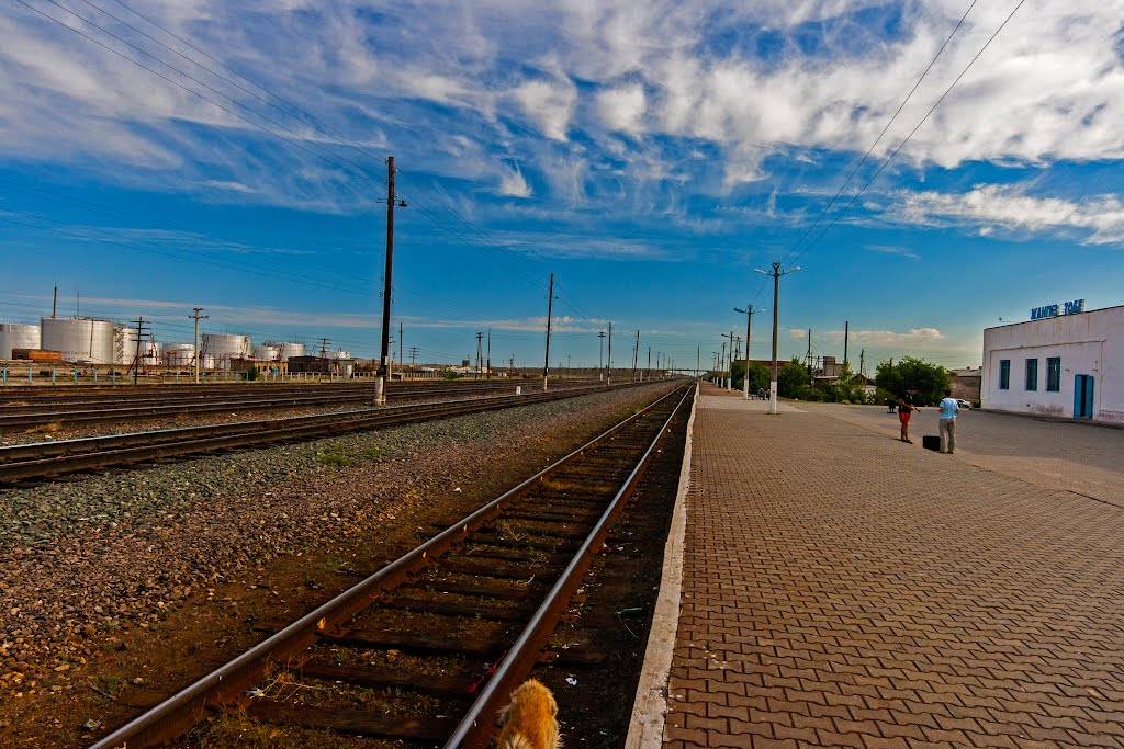 Looking north Zhangiztobe Train Station, East Kazakhstan, Жангизтобе