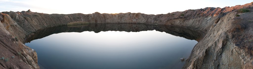 """""""Тротиловое"""" озеро. Lake """"Trotilovoe"""". Create by chemical explosion, Семипалатинск"""