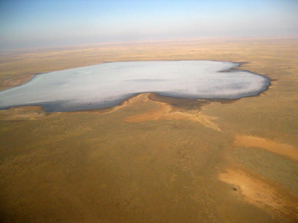 Zhaksytuz Lake from helicopter, Семипалатинск