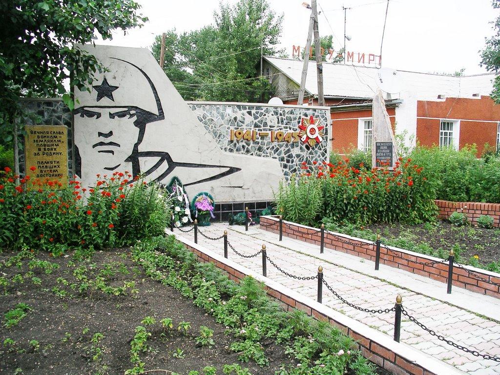Памятник Воинам в селе Вишнёвка, Вишневка