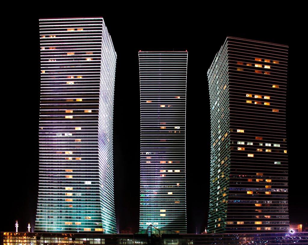 Three towers (HDR). Astana., Астана