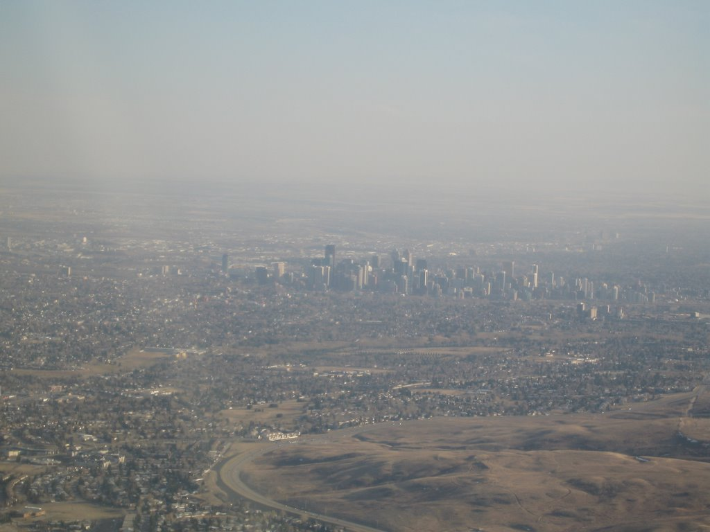 Aerial of downtown Calgary, Калгари