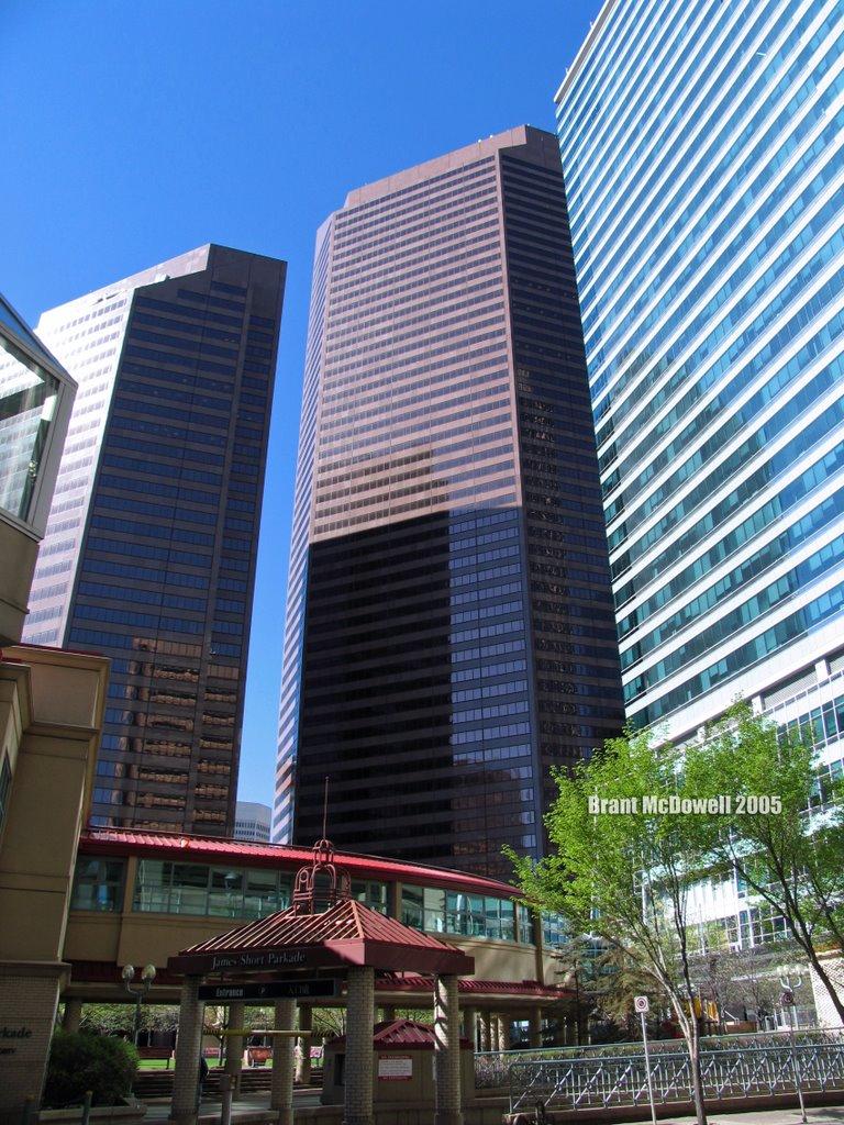 East & West Petro-Canada Plaza: Seen from James Short Park, Калгари