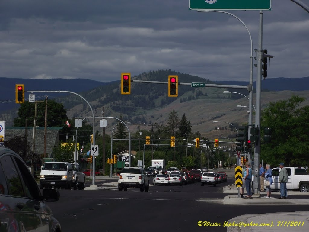 Intersection Hwy 97 / Hwy 6 (25 Ave / 32 Street), Vernon, Вернон