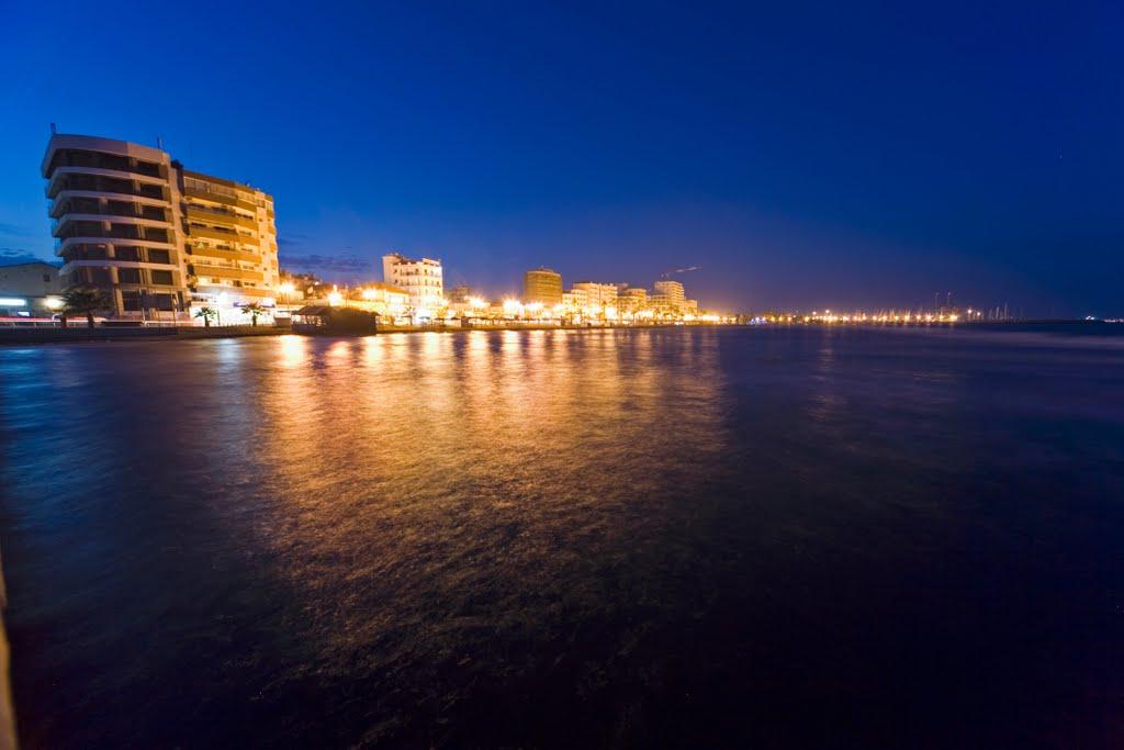 Larnaka by night/ Λάρνακα, Ларнака