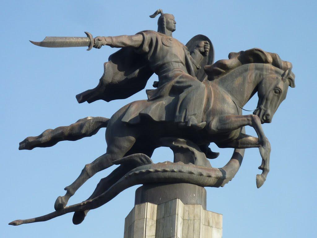 Manas, mítico héroe nacional kirguis., Бишкек